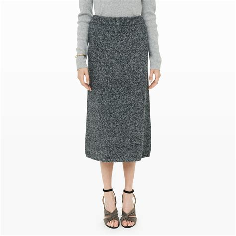 how to knit a skirt club monaco samira knit skirt in gray lyst