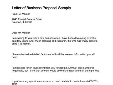 Samples Of A Proposal Letter Joselinohouse
