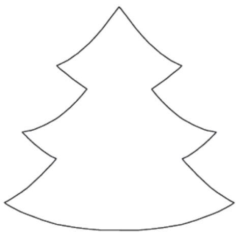evergreen tree outline christmas tree template printable