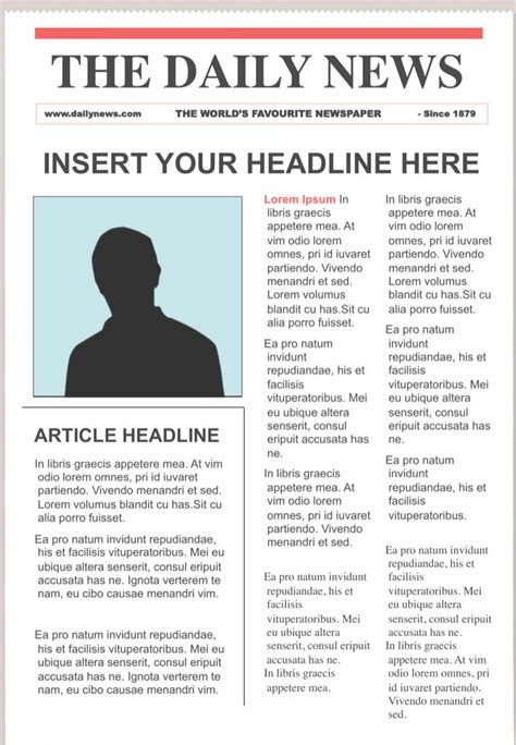 editable newspaper template newspaper templates free premium templates
