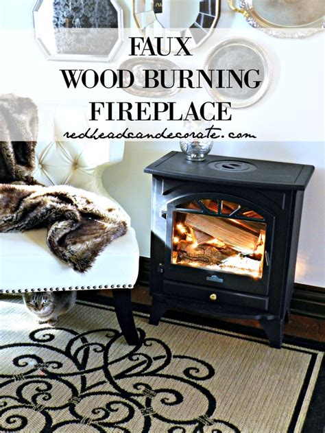 faux wood burning place can decorate