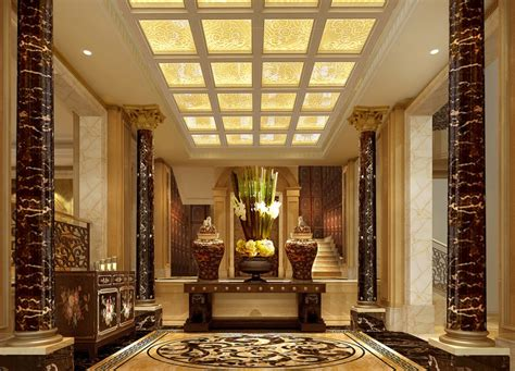 house entrance interior design european villa entrance design picture