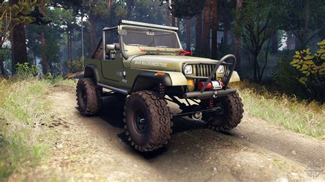 jeep open top jeep yj 1987 open top green for spin tires