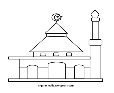 mewarnai gambar masjid 21 anak muslim alqur anmulia