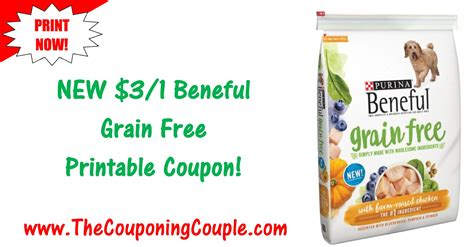 dog food coupons walmart new beneful printable coupon 3 00 1 beneful grain free