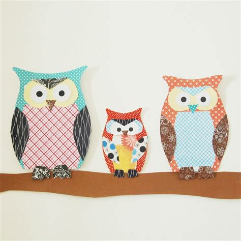 Craft Ideas With Scrapbook Paper - paper owl family family crafts