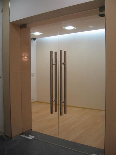 double swing doors interior glass door for bathroom and toilet with locks