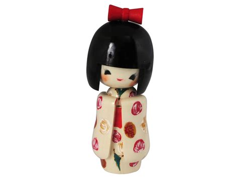 Kitchen Canisters Charming Spring Festivities Japanese Kokeshi Doll