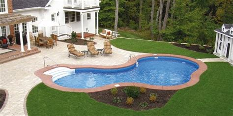 inground pools for small backyards landscape ideas for above ground pool area above ground