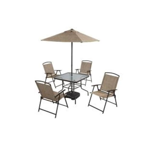 folding patio dining set 7 folding sling patio dining set dt 240124e the