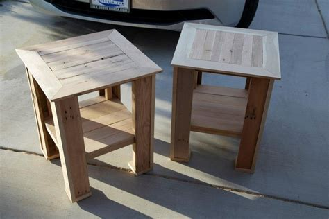 pallet wood end table pallet end table gallery pallet furniture