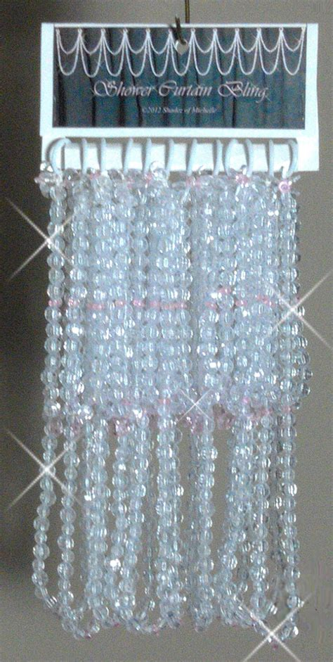 bling shower curtain shadez of michelle shower curtain bling pink and crystal