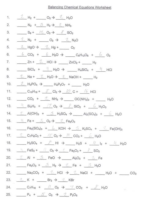 balancing chemical equations worksheet google search science pinterest search equation