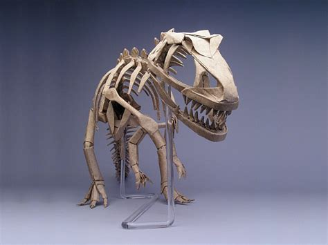 Origami Allosaurus - origami master robert j lang allosaurus skeleton ah i