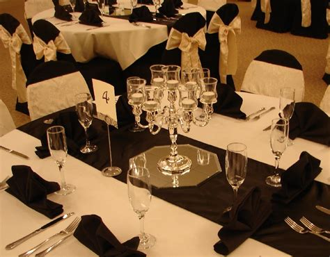 black silver and table decorations photograph table de