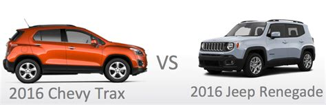 Trax Jeep Parts Compare New 2016 Jeep Renegade Vs Chevy Trax Price Mpg