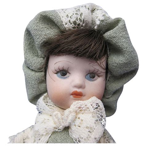 tiny bisque doll vintage tiny bisque doll from tottysantiques on ruby