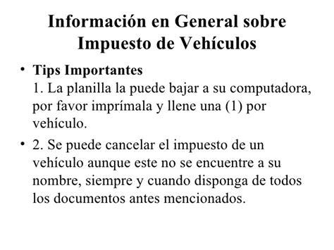 liquidar el impuesto de vehiculos impuesto de vehiculos