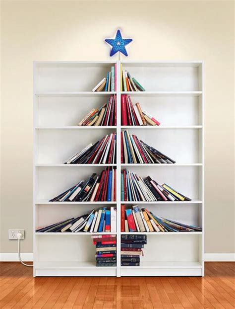 bookshelf christmas tree idea pictures photos and images