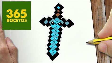 imagenes de minecraft kawaii como dibujar espada minecraft kawaii paso a paso dibujos