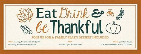 Invitations Free Ecards And Party Planning Ideas From Evite Friendsgiving Invitation Free Template