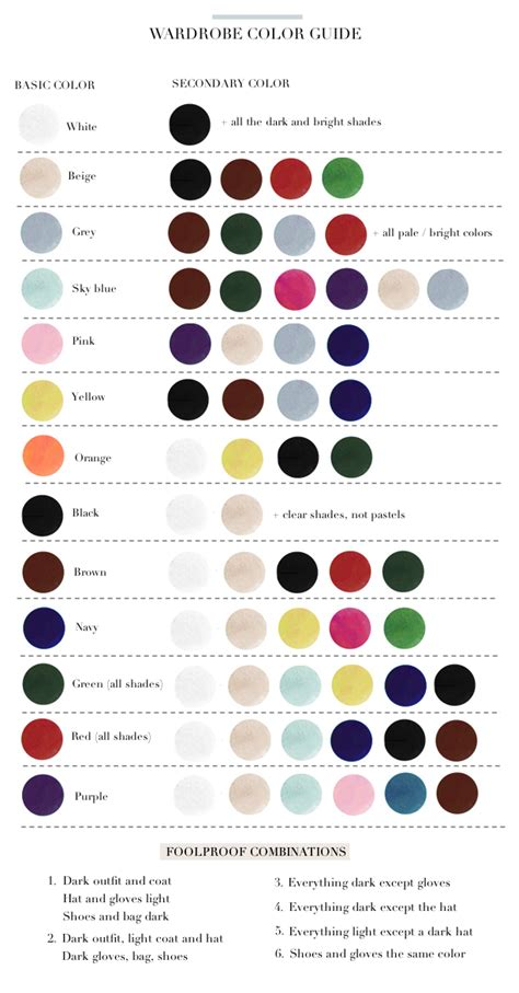 color matched to go wardrobe color guide