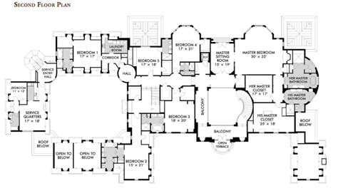 mansion blue prints floorplans homes of the rich