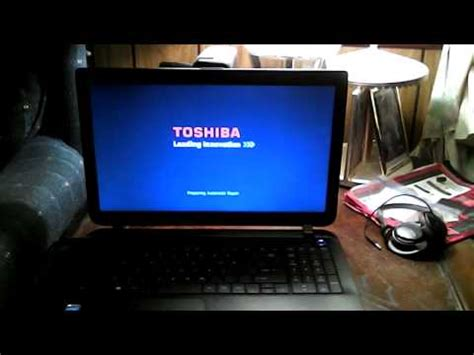toshiba satellite black screen  death windows