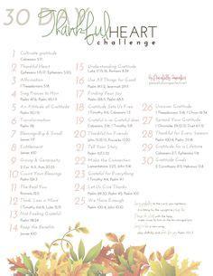 30 Day Faith Detox Challenge by 30 Days Of Gratitude Theglitterguide Gratitude