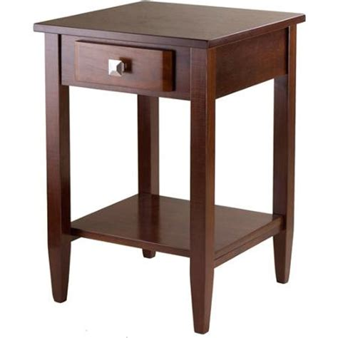 Living Room End Tables At Walmart Richmond End Table Antique Walnut Walmart