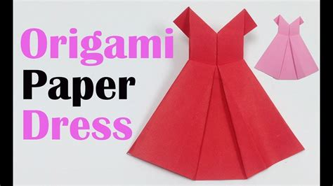 Paper Dress Origami - how to make a pretty origami paper dress origami