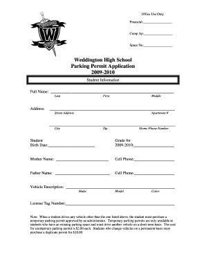 Daily Progress Report Template For High School Students Forms Fillable Printable Sles For Parking Permit Form Template