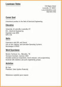 Sample Resume Templates For College Students 6 Example Resume For College Student Expense Report