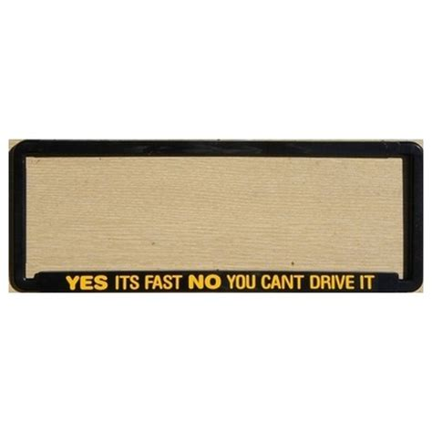 novelty number plate frame yes its fast no you cant drive it frame manbase