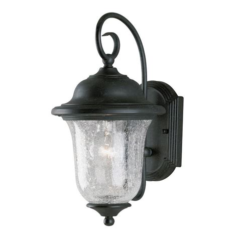 Westinghouse Outdoor Lighting Westinghouse 1 Light Vintage Bronze Steel Exterior Wall Lantern With Clear Crackle Glass 6484100