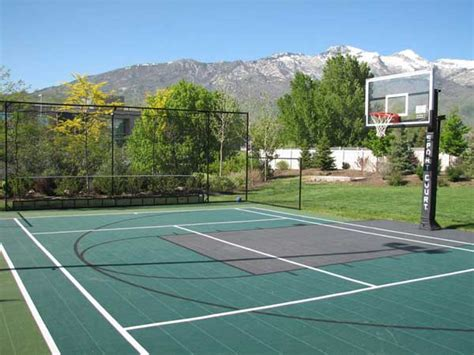 outdoor basketball court charitable work mac bros basketball cs