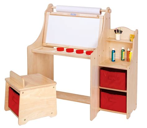 art desk with storage kids artistic kids activity desk w stool storage bins paper roll