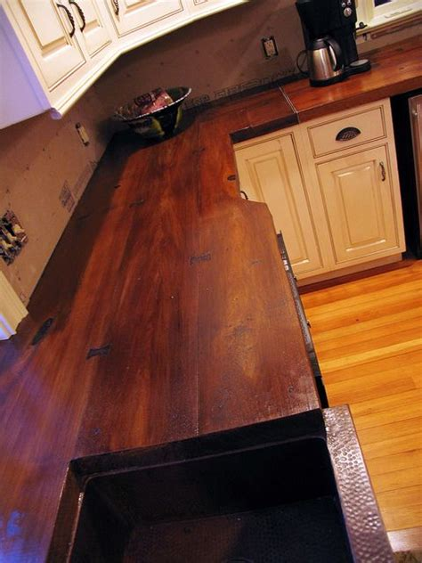 diy concrete countertops wood concrete countertop cast on a wood plank mold and