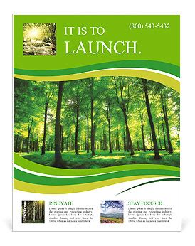 template forest beautiful thick green forest flyer template design id