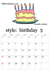 free printable birthday calendars personalized calendars