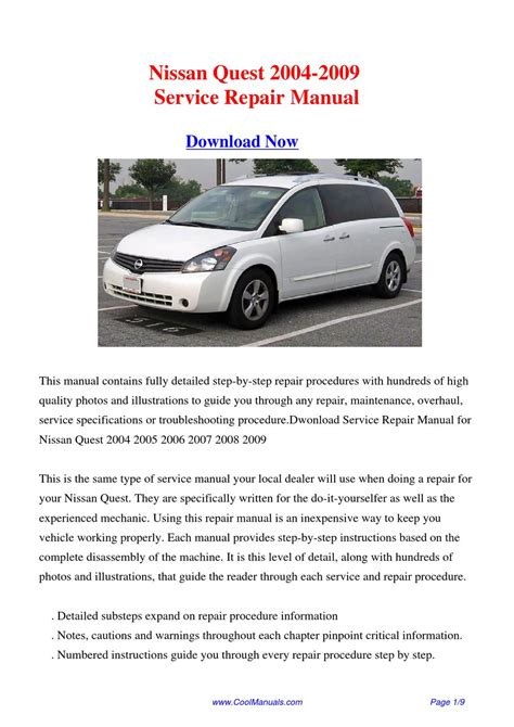 repair manual 2009 nissan quest free downloads by tradebit com de es it nissan quest v42 service manual repair manual 2009 nissan quest free service manual repair manual 2009 nissan