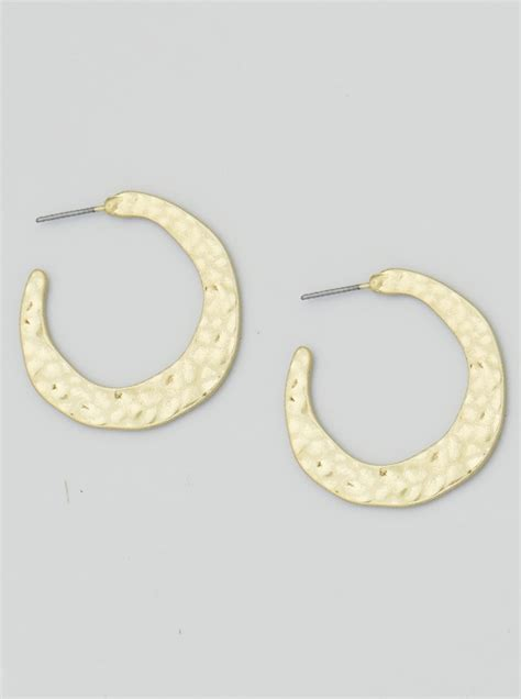 how to make metal sted jewelry hammered metal crescent stud earrings 47 fe139 wg worn