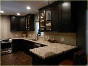 espresso cabinets kitchen espresso kitchen cabinets with granite home design ideas