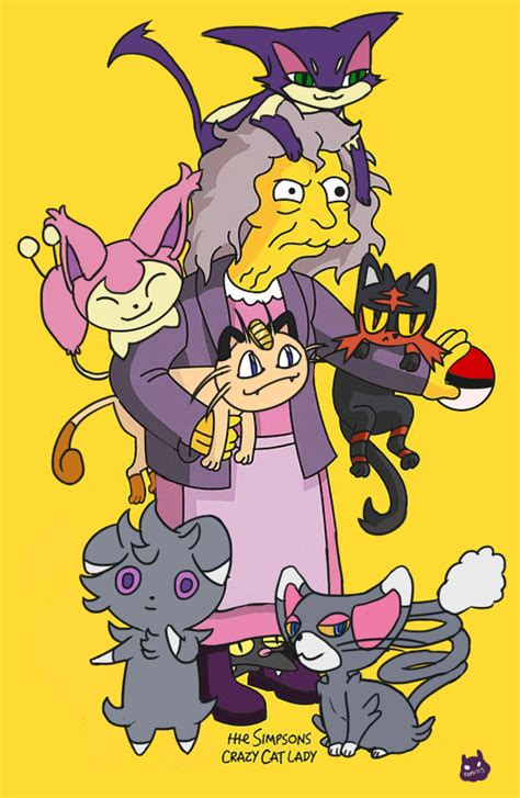 lady with the crazy cat lady simpsons www pixshark com images