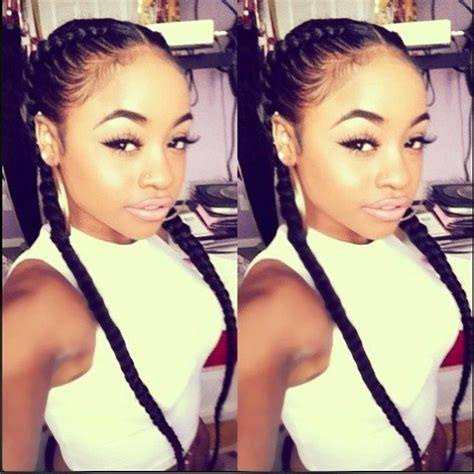 protective styles double braid and girls on pinterest sexy two braids protective style braids pinterest