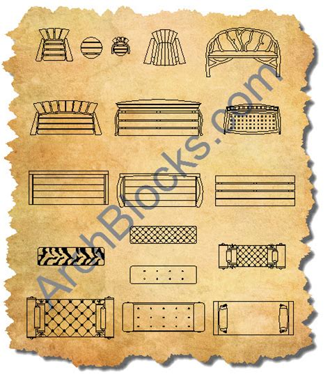 bench cad block cad furniture blocks autocad furniture symbols cad