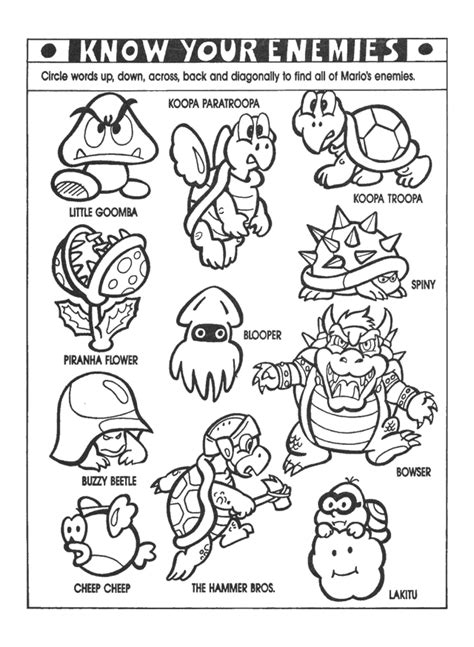 coloring pages nintendo characters super mario color pages coloring home