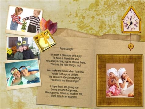 friendship card templates friendship collage card add on templates free