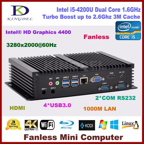 Vga Intel Hd Graphics best price i3 4010u i3 5005u i5 4200u dual intel hd graphics hdmi 2 rs232 vga