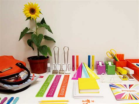 colorful office supplies design for mankind poppin cool hunting